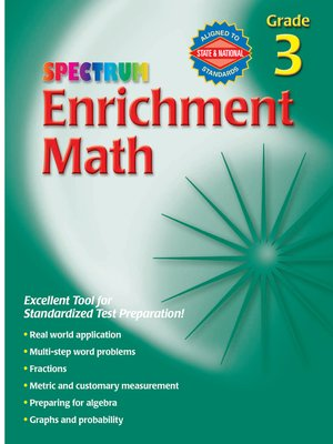 cover image of Enrichment Math, Grade 3