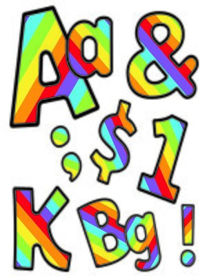 cover image of Celebrate Learning Rainbow Stripe Letters, Numbers, and Symbols