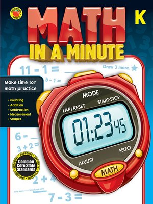 cover image of Math in a Minute, Grade K