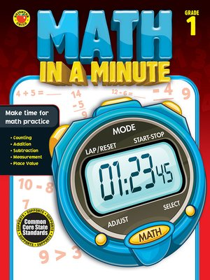 cover image of Math in a Minute, Grade 1