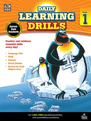cover image of Daily Learning Drills, Grade 1