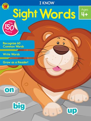 cover image of I Know Sight Words