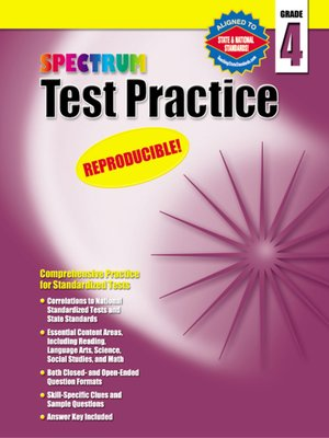 cover image of Spectrum Test Practice, Grade 4