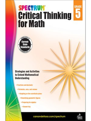 cover image of Spectrum Critical Thinking for Math, Grade 5