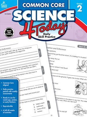 cover image of Common Core Science 4 Today, Grade 2