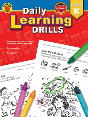 cover image of Daily Learning Drills, Grade K