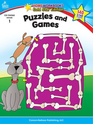cover image of Puzzles and Games, Grade 1