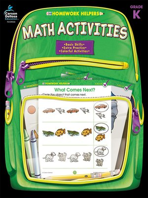 cover image of Math Activities, Grade K