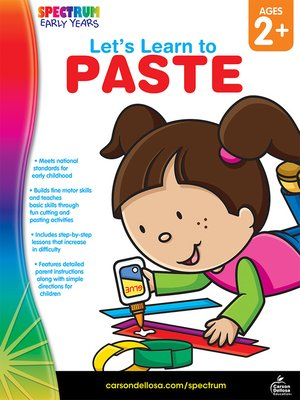 cover image of Let's Learn to Paste, Grades Toddler - PK