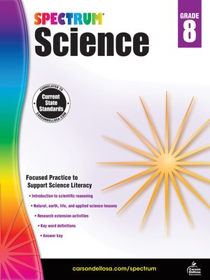 cover image of Spectrum Science, Grade 8