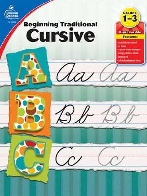 cover image of Beginning Traditional Cursive, Grades 1 - 3