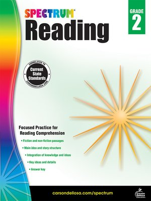 cover image of Spectrum Reading Workbook, Grade 2