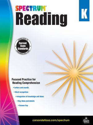 cover image of Spectrum Reading Workbook, Grade K