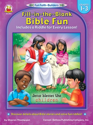 cover image of Fill-in-the-Blank Bible Fun, Grades 1 - 3