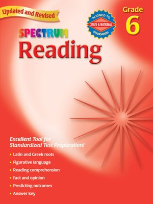 cover image of Spectrum Reading, Grade 6