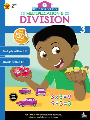 cover image of Skills for School Multiplication & Division, Grade 3