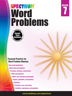 cover image of Word Problems, Grade 7