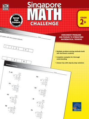 cover image of Singapore Math Challenge, Grades 2 - 5