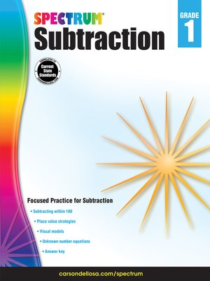 cover image of Subtraction, Grade 1