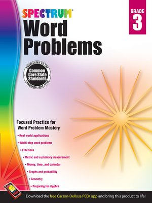 cover image of Word Problems, Grade 3