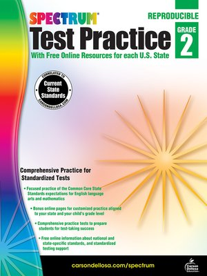 cover image of Spectrum Test Practice, Grade 2