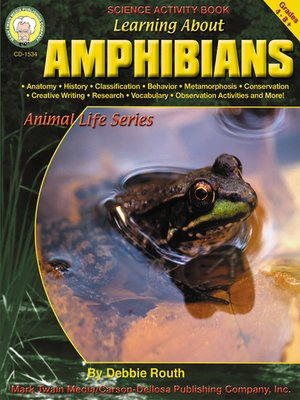 cover image of Learning about Amphibians, Grades 4 - 8