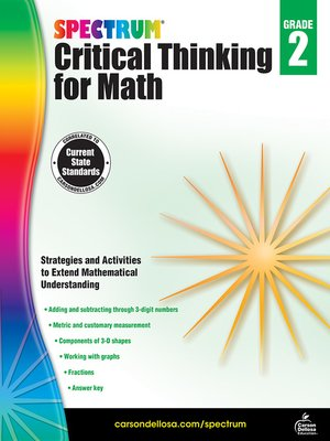 cover image of Spectrum Critical Thinking for Math, Grade 2