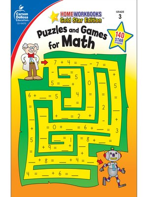 cover image of Puzzles and Games for Math, Grade 3