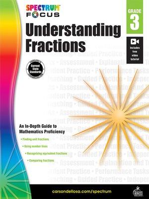 cover image of Spectrum Understanding Fractions
