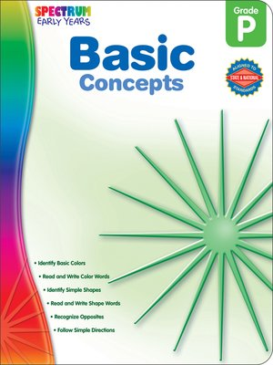 cover image of Basic Concepts, Grade PK