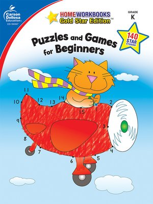 cover image of Puzzles and Games for Beginners, Grade K