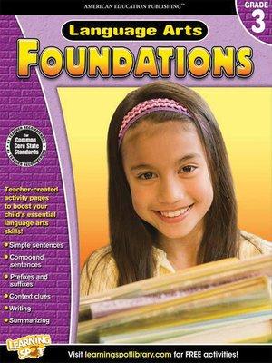 cover image of Language Arts Foundations, Grade 3