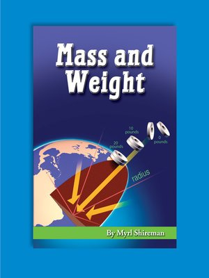 cover image of Mass and Weight