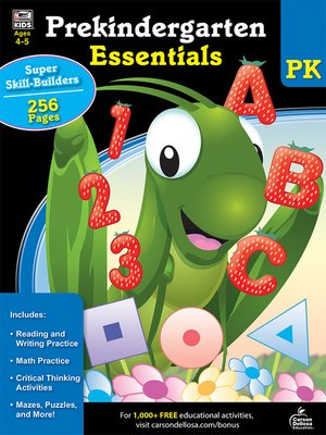 cover image of Prekindergarten Essentials