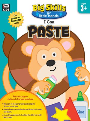 cover image of I Can Paste, Age 3