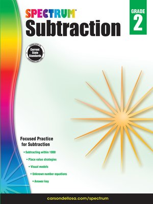 cover image of Subtraction, Grade 2