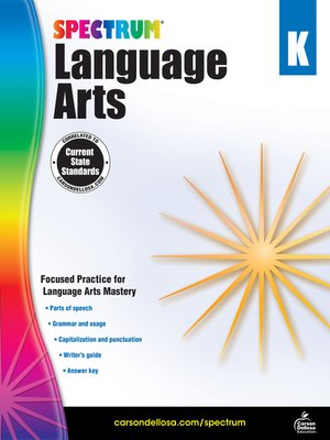 cover image of Spectrum Language Arts, Grade K