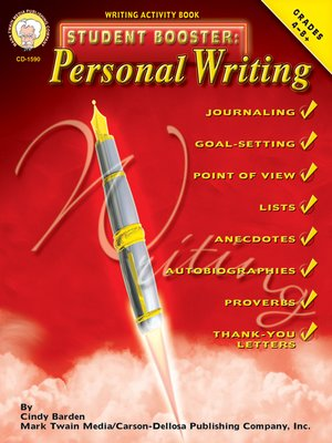 cover image of Personal Writing, Grades 4 - 8