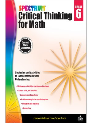 cover image of Spectrum Critical Thinking for Math, Grade 6