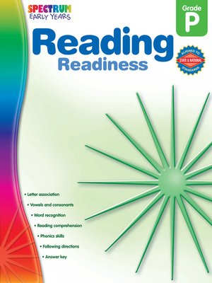cover image of Reading Readiness, Grade PK