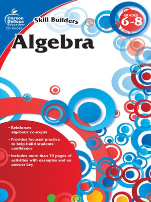 cover image of Algebra, Grades 6--8