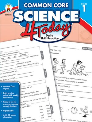 cover image of Common Core Science 4 Today, Grade 1