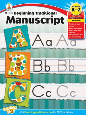 cover image of Beginning Traditional Manuscript, Grades K - 2