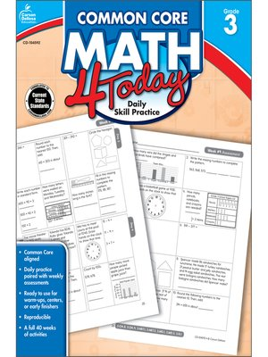 cover image of Common Core Math 4 Today, Grade 3