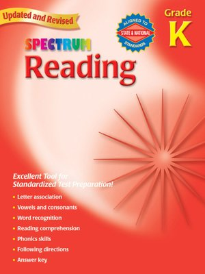 cover image of Spectrum Reading, Kindergarten