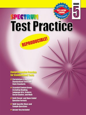 cover image of Spectrum Test Practice, Grade 5