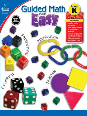cover image of Guided Math Made Easy, Grade K