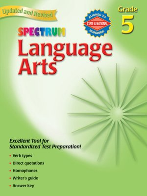 cover image of Spectrum Language Arts, Grade 5