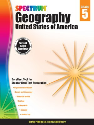 cover image of Spectrum Geography, Grade 5