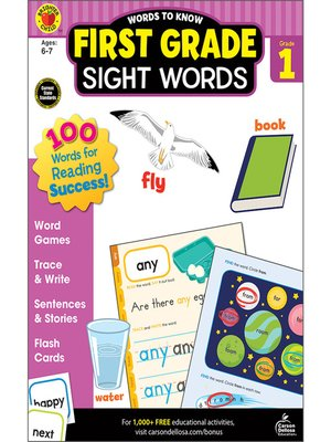cover image of Words to Know Sight Words, Grade 1